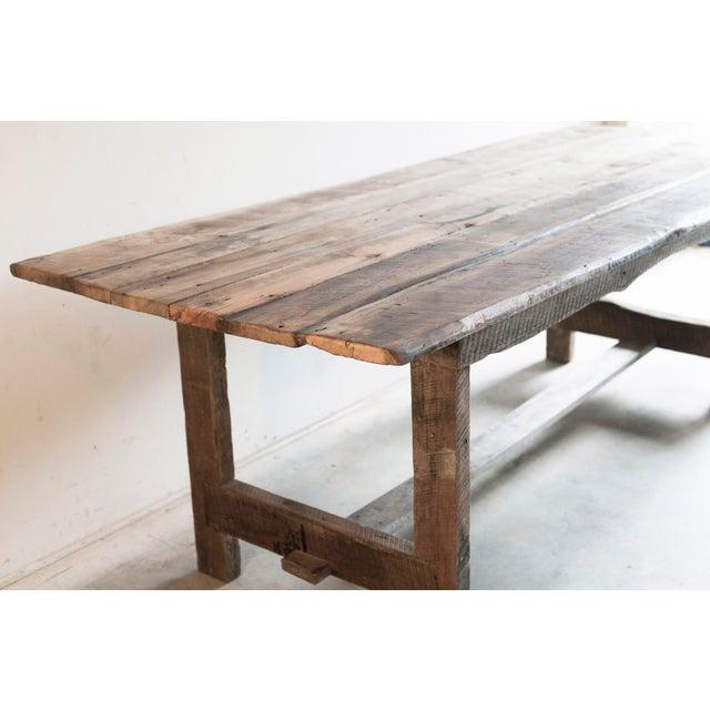 Farmhouse Custom French Farmhouse Dining Table of Reclaimed Barn Wood. For Sale - Image 3 of 10