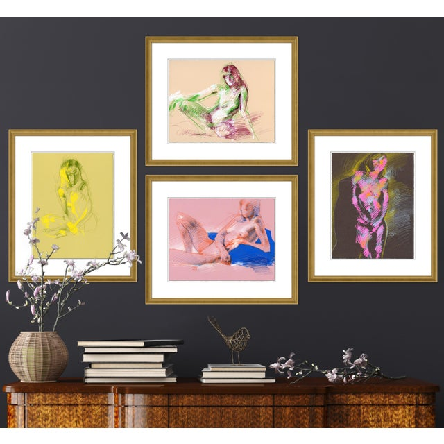 DESCRIPTION: Figures, Set of 4 by David Orrin Smith in White Frame, XS Art Print SPECIFICATIONS: Type: Giclée Art Print on...