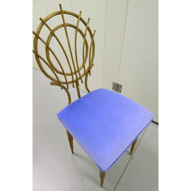 1960s Petite Gilt Bamboo-Style Chairs - A Pair - Image 7 of 7