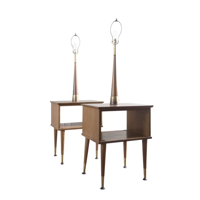 Vintage Mid-Century Modern Lamp Side Tables - A Pair - Image 1 of 5