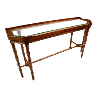 Wood & Glass Console