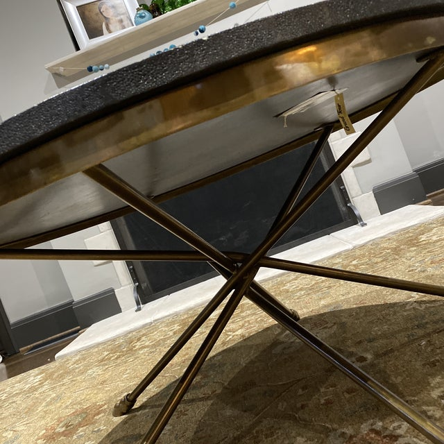 Gray Century Furniture Grand Tour Shagreen Style Cocktail Table For Sale - Image 8 of 13