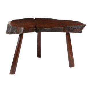 Vintage Tree Trunk Table For Sale