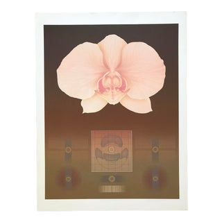 """1980s """"Orchid Matrix II"""" Serigraph Numbered 13/100 Signed by David Haidle For Sale"""