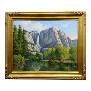 David Chapple Yosemite Fall Landscape - California Plein Air Oil Painting For Sale