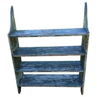 Antique Green Bucket Bench For Sale