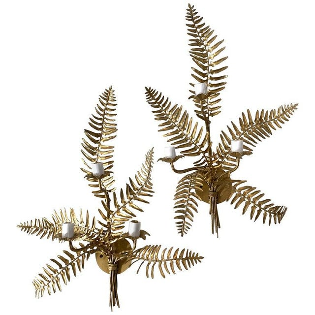 Mid-Century Sconces Fern Motif - a Set of 2 For Sale - Image 13 of 13