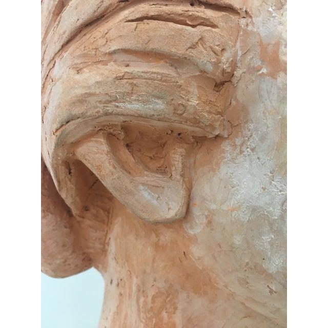 Vintage Plaster Female Bust For Sale - Image 12 of 13