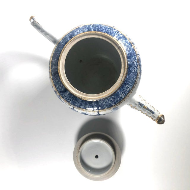 """Ceramic Late 18th Century English Georgian Period Caughley """"Blue Willow Nankin"""" Teapot or Punch Pot For Sale - Image 7 of 9"""
