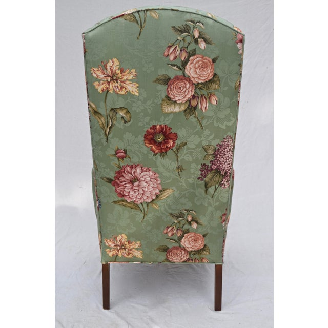 Green Baker Wing Back Chair For Sale - Image 8 of 10