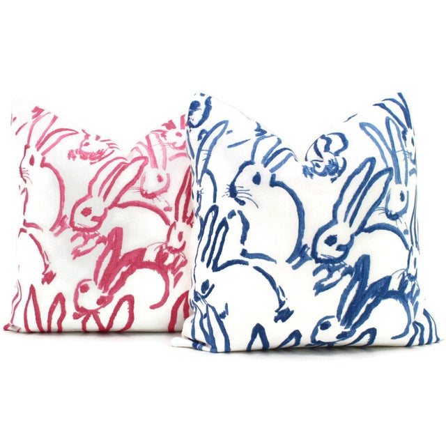 Abstract Lee Jofa Groundworks Hutch Pink Bunny Pillow For Sale - Image 3 of 7