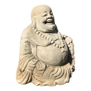 1950s Vintage Concrete Buddha Statue For Sale
