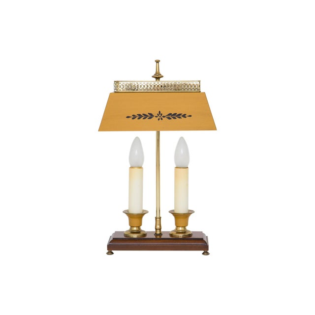Yellow Bouillotte Lamp For Sale - Image 4 of 7