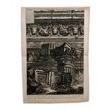 "Image of Piranesi Engraving of ""Vesta Tempe Column Fragments"" For Sale"