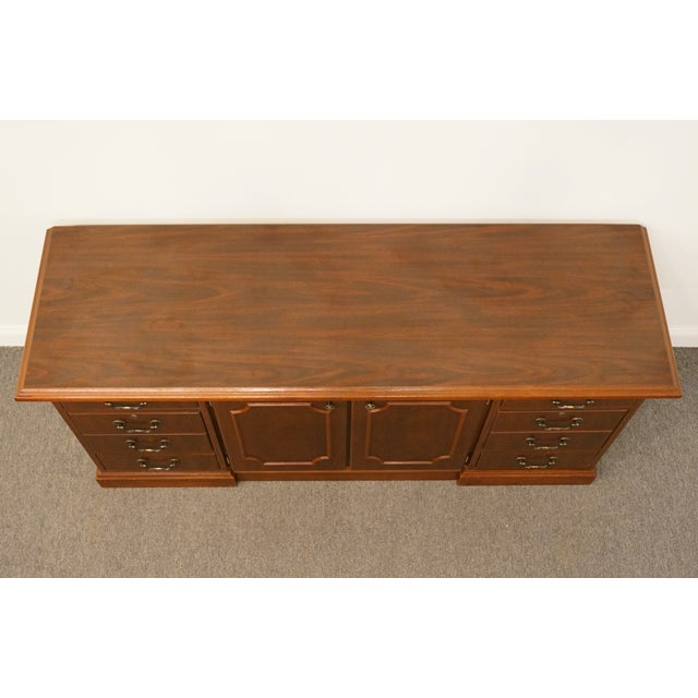 Traditional 20th Century Traditional Miller Desk Solid Cherry Executive Office Credenza For Sale - Image 3 of 13