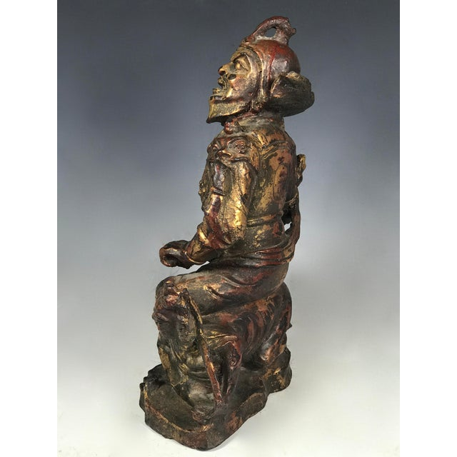 Bronze Chinese Art Carved Bronze Warrior For Sale - Image 7 of 11
