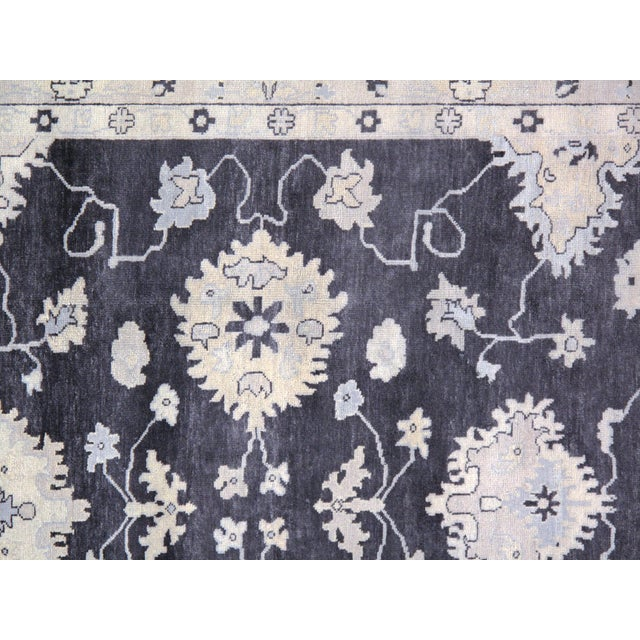 """Traditional Pasargad N Y Original Oushak Design Hand-Knotted Rug - 8'1"""" X 9'10"""" For Sale - Image 4 of 5"""