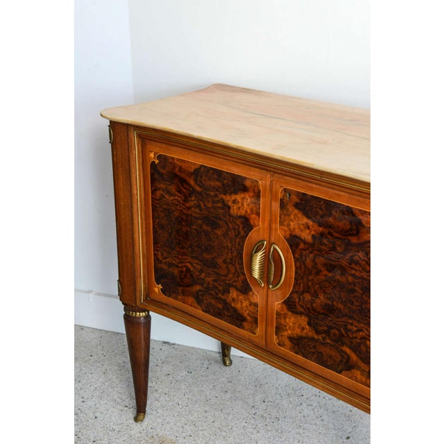 Dassi Fine Italian Modern Rootwood, Fruitwood, Onyx and Brass Sideboard/Buffet, Dassi For Sale - Image 4 of 9