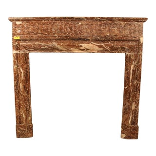 French Louis XIV Style Marble Mantel For Sale