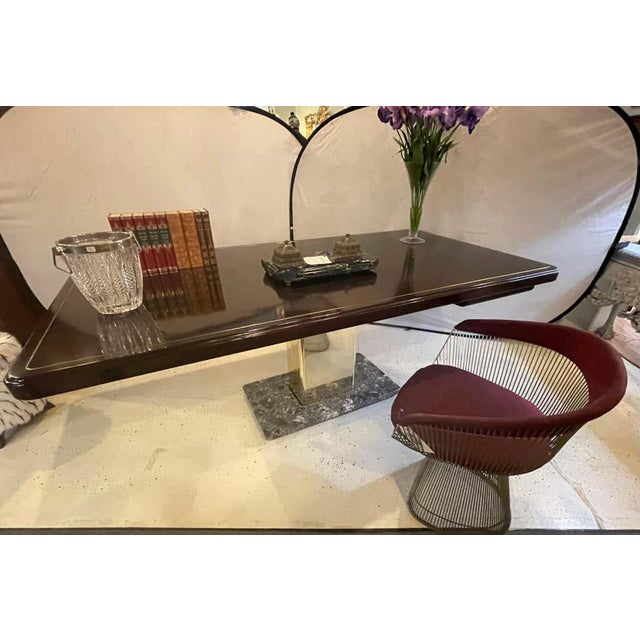 Warren Platner Desk Mid-Century Modern on a Rosewood, Brass and Marble Base For Sale - Image 12 of 13