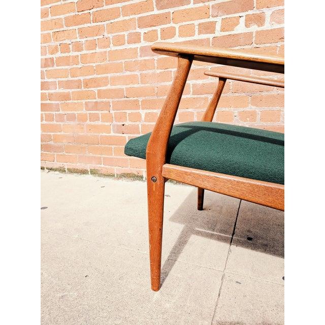 Vintage Mid Century Danish Modern Teak Lounge Chair For Sale - Image 9 of 11