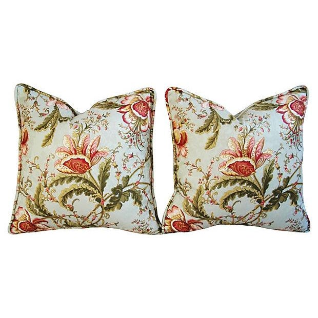 Custom Swavelle Mill Creek Floral Pillows - A Pair - Image 7 of 7