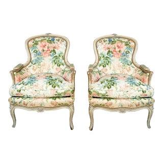Jansen Louis XVI Bergere Chairs - A Pair