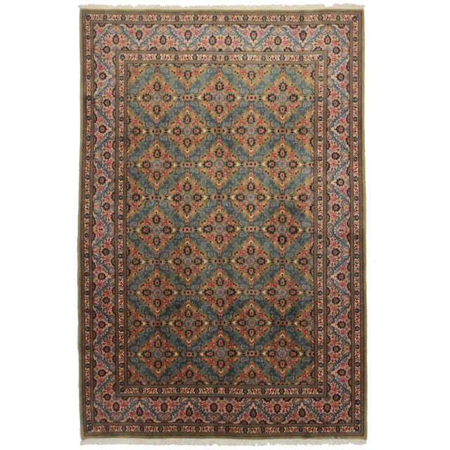 """Asian Style Persian Area Rug - 6'6"""" x 9'10"""" - Image 1 of 2"""