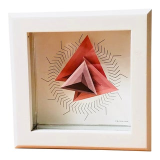 Rare 1980s PostModern Douglas Chalk Wall & Mantle Clock Triangular Hands, London,UK For Sale