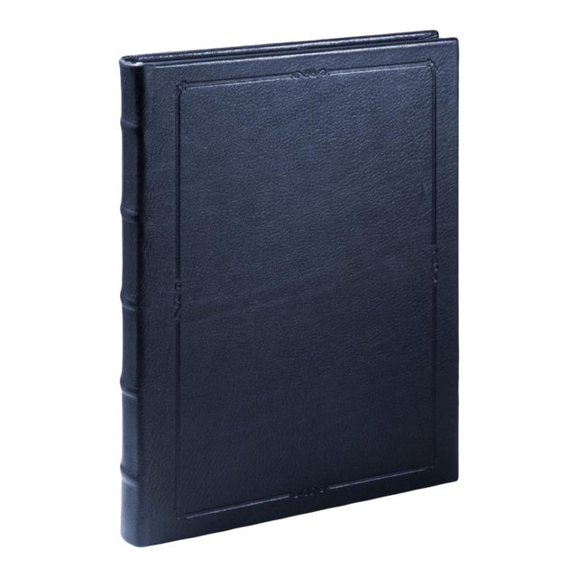 Large Hardcover Journal, Calfskin in Blue For Sale