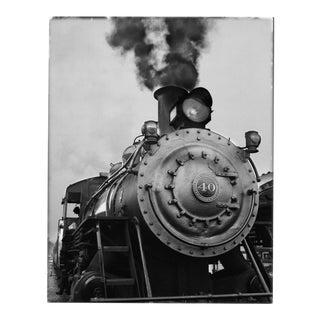 Train Black & White Photograph by Charles Baker