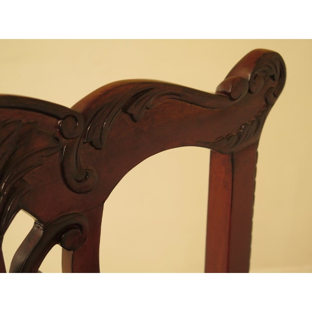 EJ Victor Ej Victor Chippendale Style Mahogany Dining Chairs - Set of 8 For Sale - Image 4 of 13
