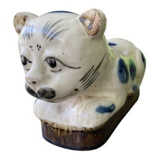 Antique Cizhou Style Chinese Stoneware Cat For Sale