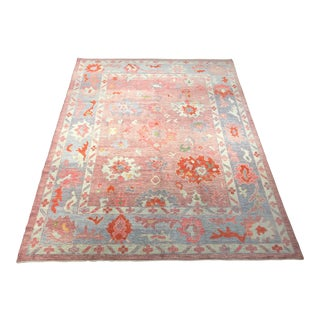 1960s Vintage Turkish Oushak Rug - 8′10″ × 11′6″ For Sale