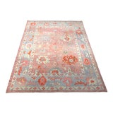 "Image of Bellwether Rugs ""Rosa"" Colorful Oushak Rug - 8′10″ × 11′6″ For Sale"