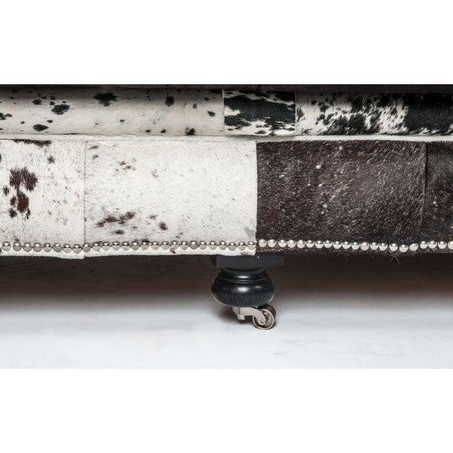 Cowhide Sofa with Nailhead Trim - Image 5 of 5
