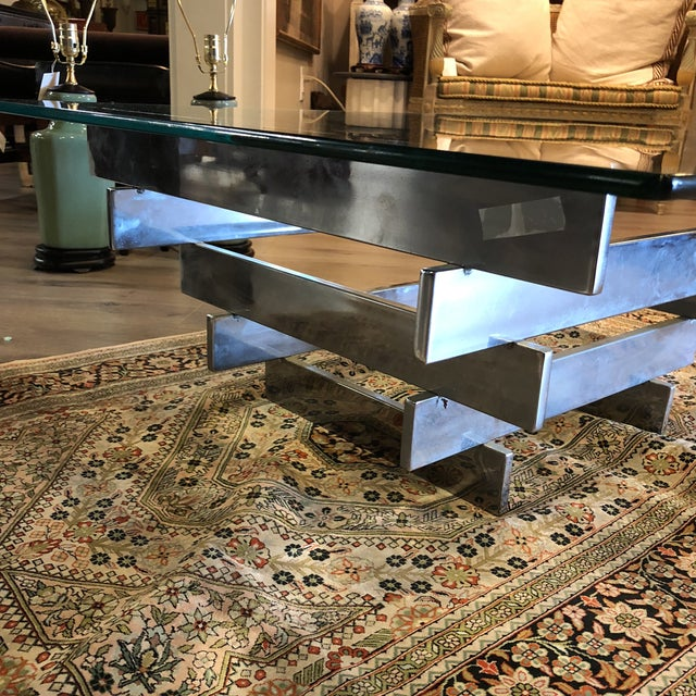 Mid-Century Modern Paul Meyen Stacked Coffee Table 1970 For Sale - Image 3 of 7