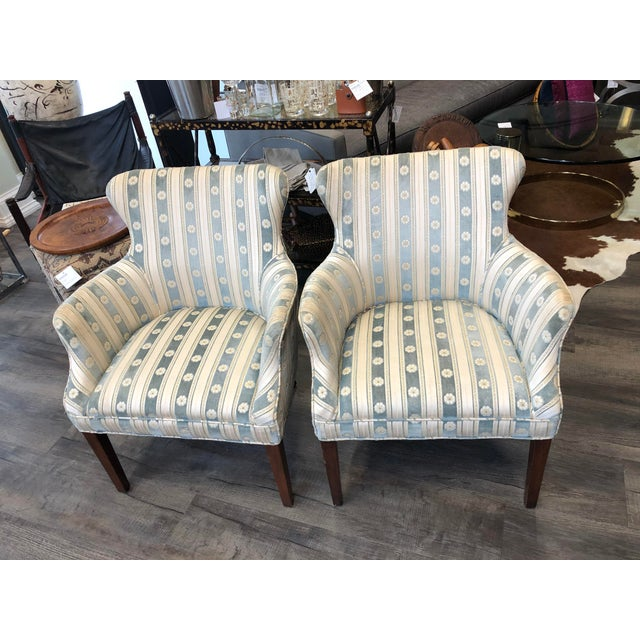 Frenchy and Feminine - this pair is waiting for your dressing room or salon. Original fabric in good shape. Chic and time...