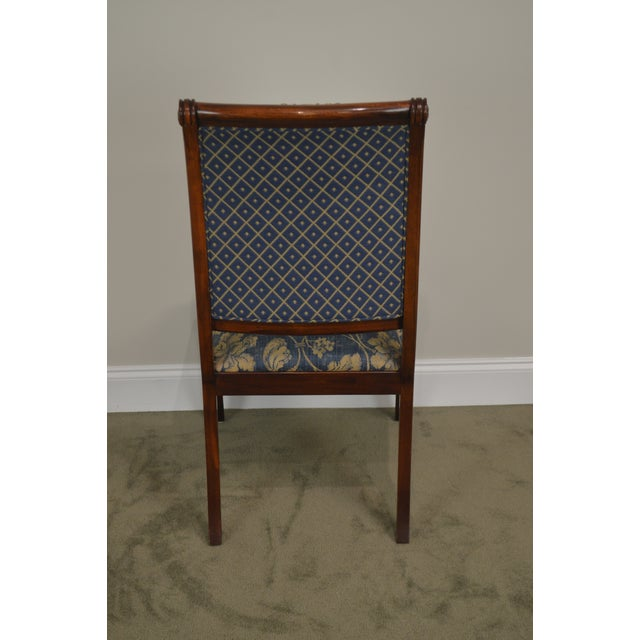 Metal Henredon Natchez Collection Set of 10 Mahogany Regency Style Dining Chairs For Sale - Image 7 of 13