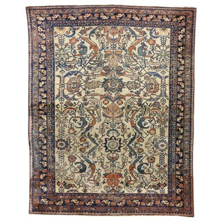 20th Century Persian Lilihan Area Rug - 4′10″ × 6′1″ For Sale