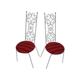 Arthur Umanoff Granola Bistro Accent Chairs - Pair For Sale