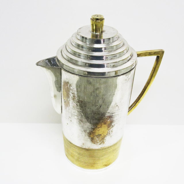 Art Deco Art Deco Moderne Silver Plated Coffee Service For Sale - Image 3 of 10