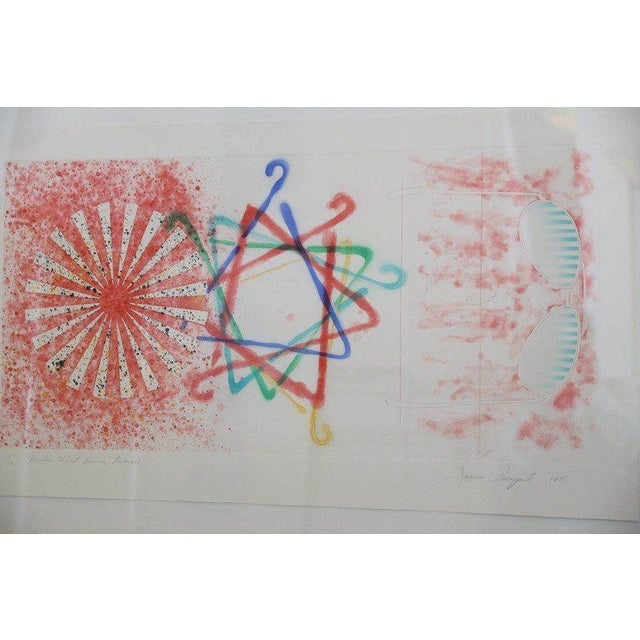 """Abstract Numbered 19 and Signed Print by Pop Artist James Rosenquist """"Number Wheel Dinner Triangle"""" - Image 2 of 6"""