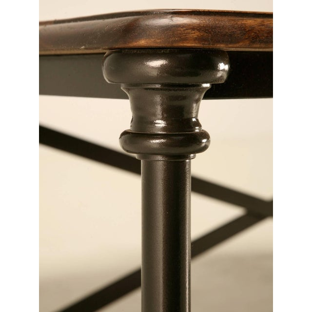 Metal Coffee or Cocktail Table With Steel and Bronze Base For Sale - Image 7 of 10
