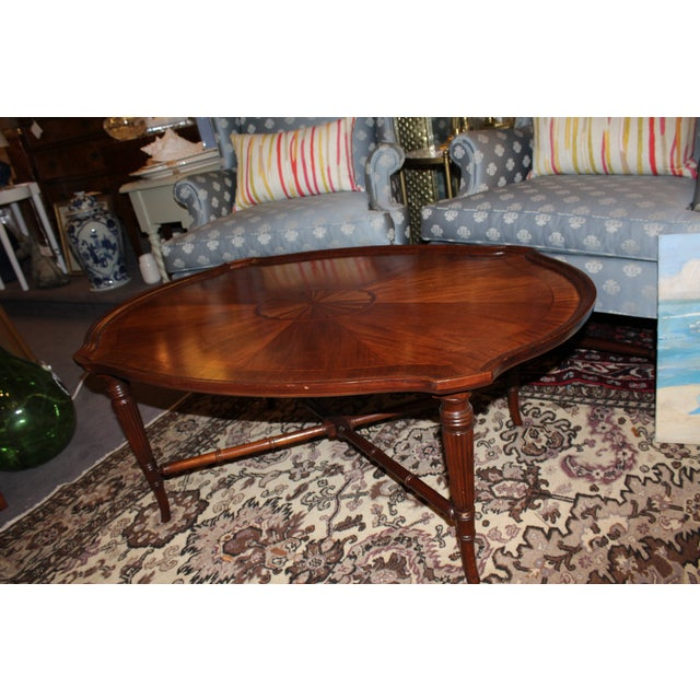 Inlay Oval Coffee Table - Image 2 of 6