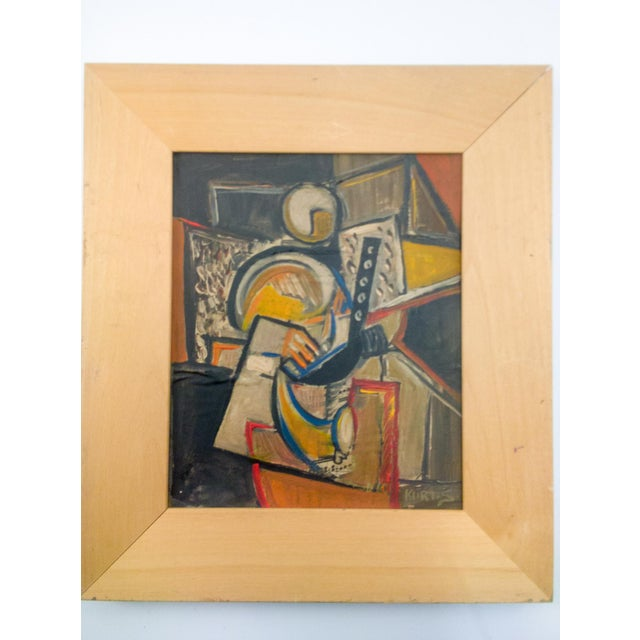 Cubist Portrait of Figure Painting by Kurt.S. For Sale In Atlanta - Image 6 of 6