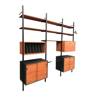 George Nelson Three Bay Omni Wall Unit For Sale