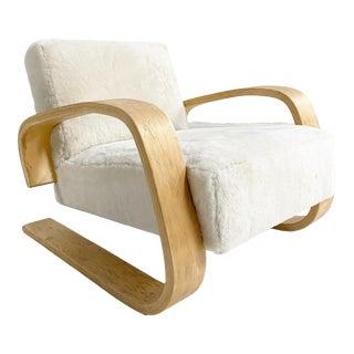 "Alvar Aalto Model 400 ""Tank"" Lounge Chair in Shearling For Sale"