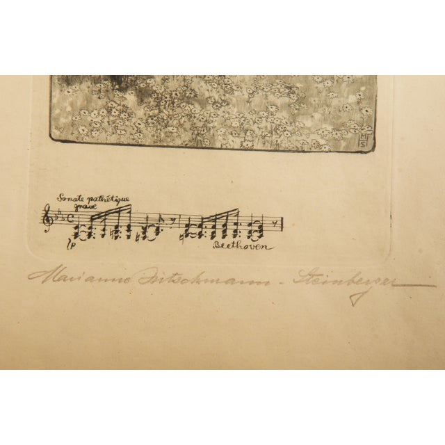 Marianne Hitschmann-Steinberger Etching From 1900 Set of Two For Sale - Image 4 of 10