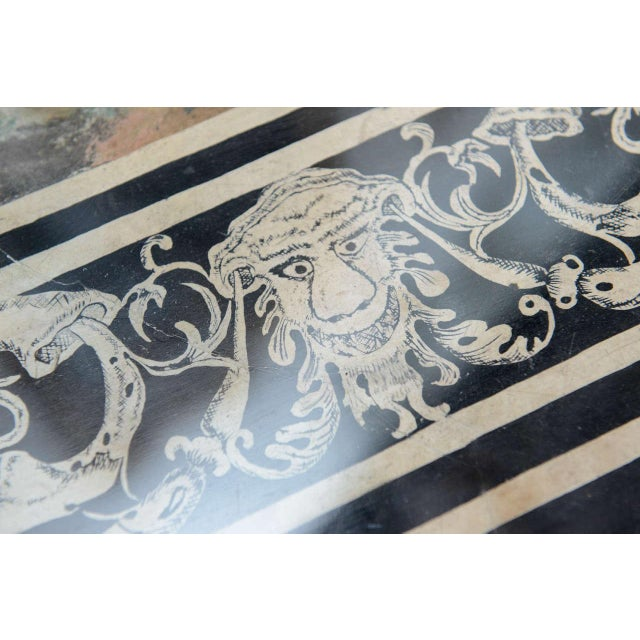Paint Fine Italian Scagliola 18th Century Table Top Mounted in a Low Table For Sale - Image 7 of 11